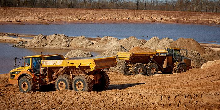 frac sand dump trucks
