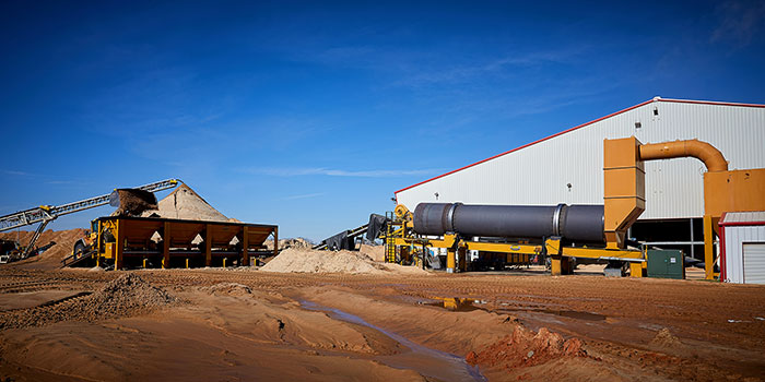 frac sand drying process